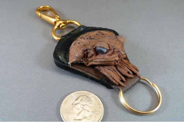 Cane Toad Head Key Fob w/Clasp