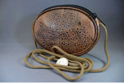 Cane Toad Leather Oval Shoulder Bag