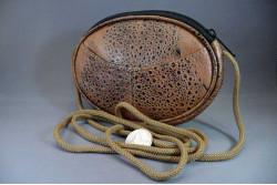 Cane Toad Leather Oval Shoulder Bag
