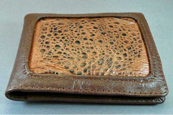 Cane Toad Inlaid Leather Wallets