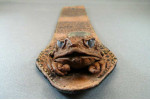 Cane Toad Leather Bookmark