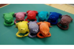 Colored Stuffed Cane Toads